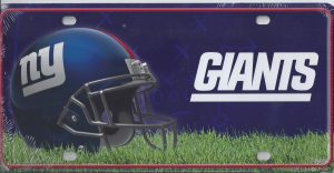 New York Giants License Plate