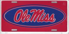 ole miss license plate