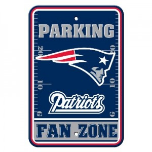 New England Patriots Parking Sign