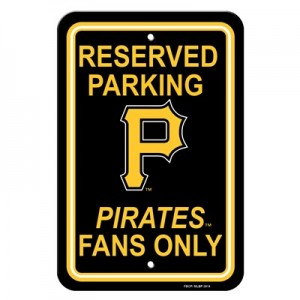 Pittsburgh Pirates parking sign