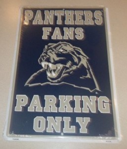 Pittsburgh Panthers Parking Sign