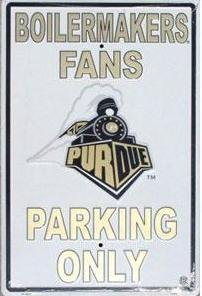 Purdue Parking Sign