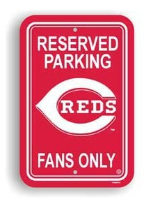 Cincinnati Reds Parking Sign
