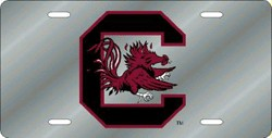 South Carolina Gamecocks mirrored license plate