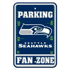 Seattle Seahawks Parking Sign