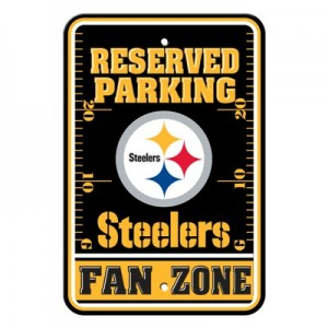 Pittsburgh Steelers Parking Sign