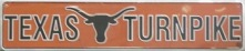 Texas Longhorn Street Sign