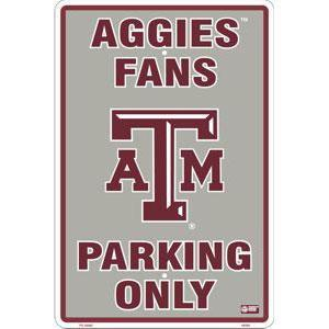 Texas A&M Metal Parking Sign