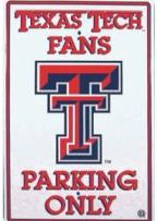 Texas Tech Parking Sign