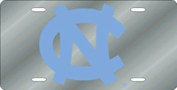 North Carolina Tar Heels Mirrored License Plate