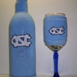 North Carolina Wine Bottle Koozie and Wine Glass Koozies