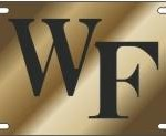 Wake Forest mirrored license plate