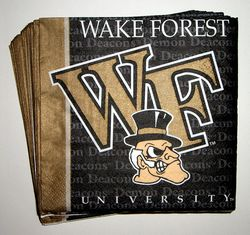 Wake Forest Cocktail Napkins