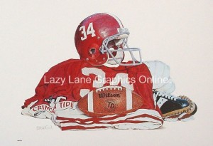 Alabama Football Print