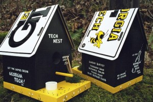 Georgia Tech birdhouse