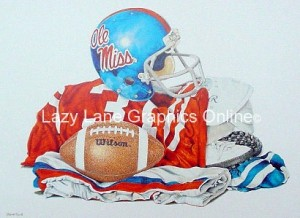 Ole Miss Football print