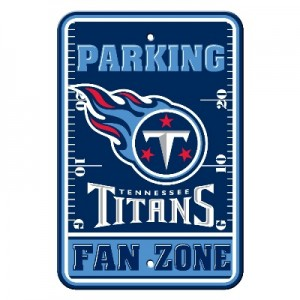 Tennessee Titans Parking Sign
