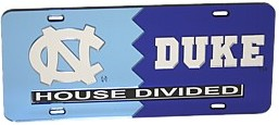 North Carolina House Dividied License Plate