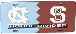 North Carolina House Divided License Plate