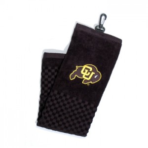 Colorado buffaloes golf towel