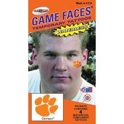 Clemson face tattoos