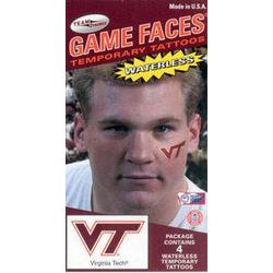 Virginia Tech Face Tattoos