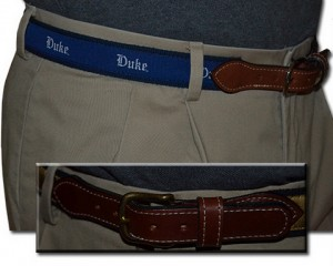 Duke Web Leather Belt