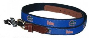 Florida Gators Web Leather Belt