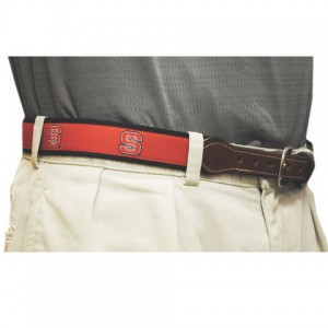NC State web leather belt