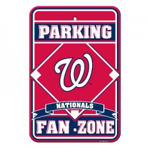 Washington Nationals Parking Sign