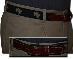 Wake Forest Web Leather Belt