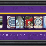 East Carolina campus letter art