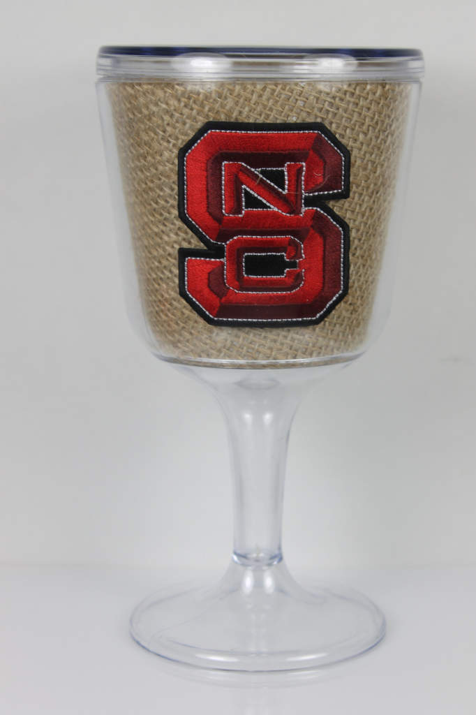 NC State burlap goblet