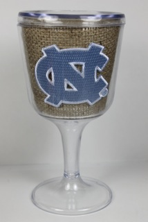 North Carolina goblet - burlap pattern