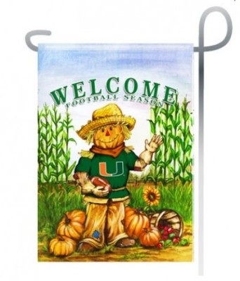 Miami Hurricanes fall garden flag