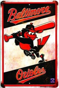 Baltimore Orioles vintage sign