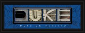 Duke Campus Letter Art