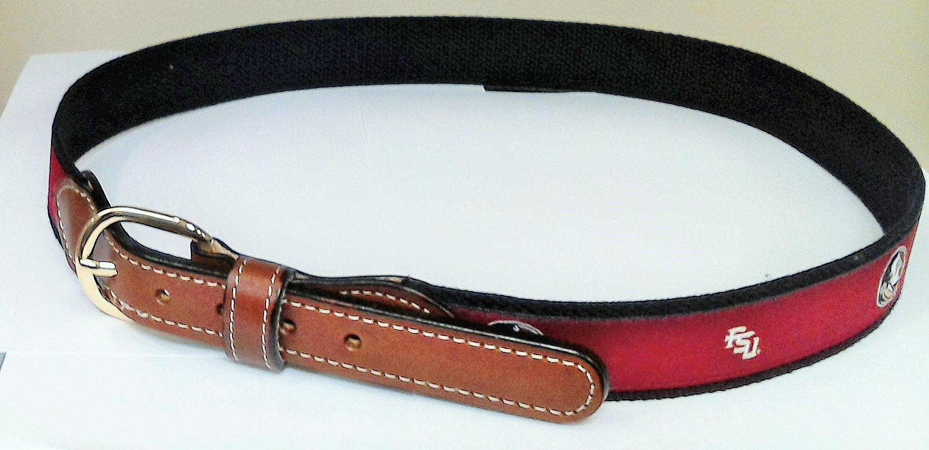 Florida State Web Leather Belt