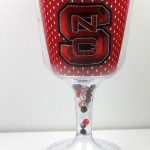 NC State goblet - jersey pattern