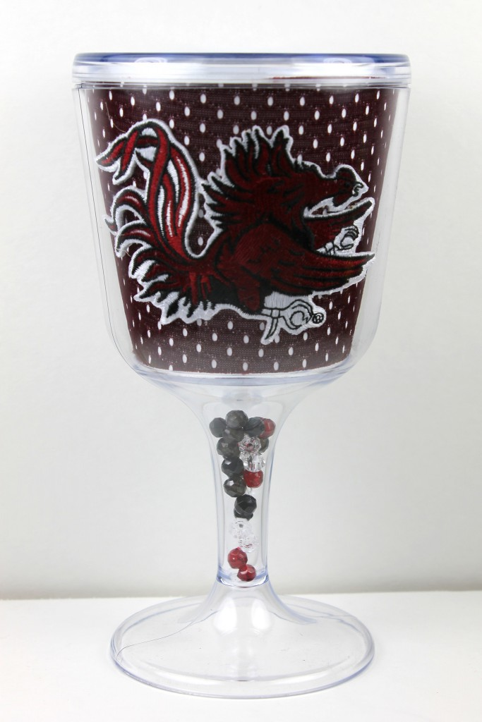 South Carolina Gamecocks Goblet - jersey pattern