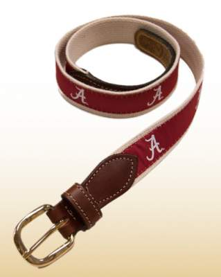 alabama web leather belt