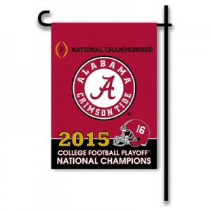 2015 Alabama National Championship Garden Flag