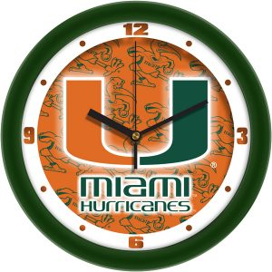 Miami Hurricanes Wall Clock