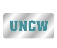 UNC Wilmington License Plate