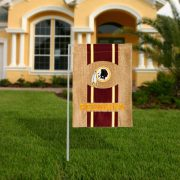 Washington Redskins Burlap Garden Flag
