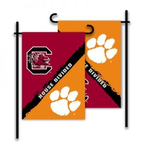 South Carolina Clemson House Divided Garden Flag
