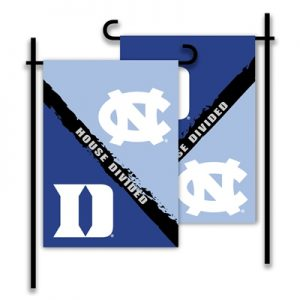 Duke North Carolina House Divided Garden Flag