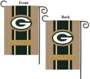 Green Bay Packers Burlap Garden Flag
