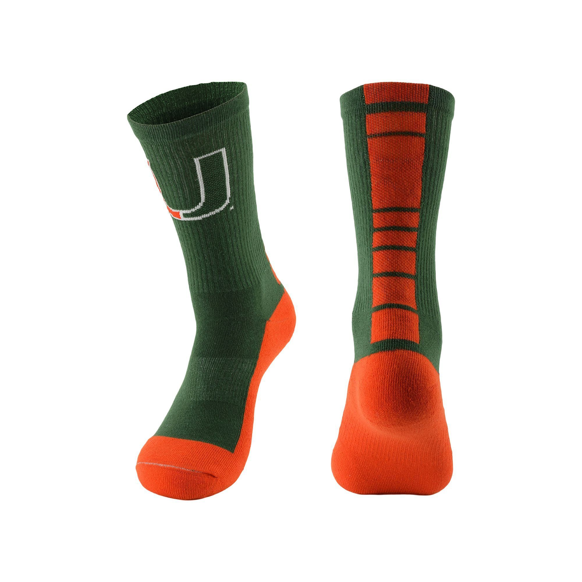 Miami Hurricanes Socks