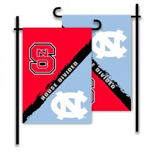 NC State North Carolina House Divided Garden Flag